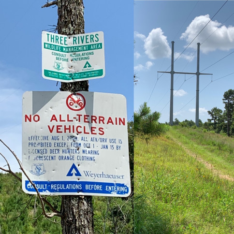Captain's Hideaway equipment is not allowed to go to Three Rivers. If someone has their own personal ATV/ ohHV then they would need to abide by the Three Rivers rule which includes every person has to have a hunting permit and wearing bright orange.